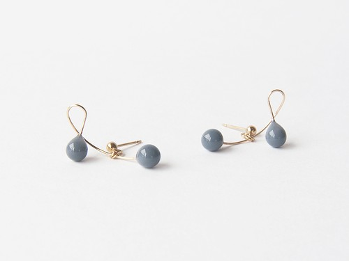 cherry gray【pierce/earring】