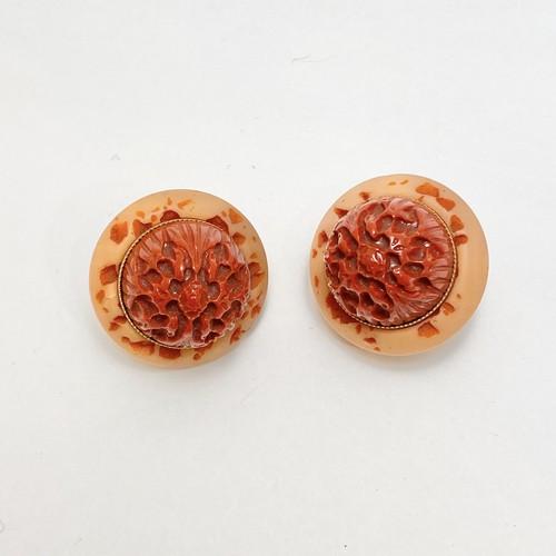 イタリアヴィンテージ 樹脂のイヤリング