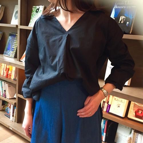 【即納商品】バックリボン スキッパーシャツ