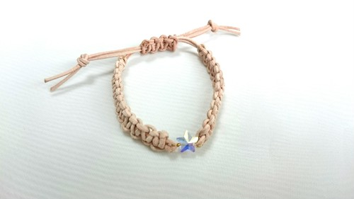【crystal】star leather bracelet