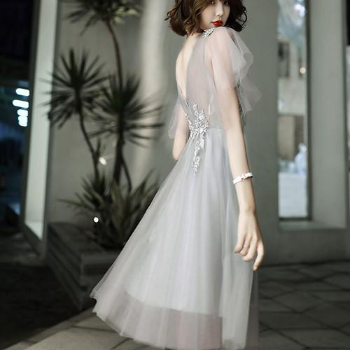 花柄刺繍 メッシュレースドレス