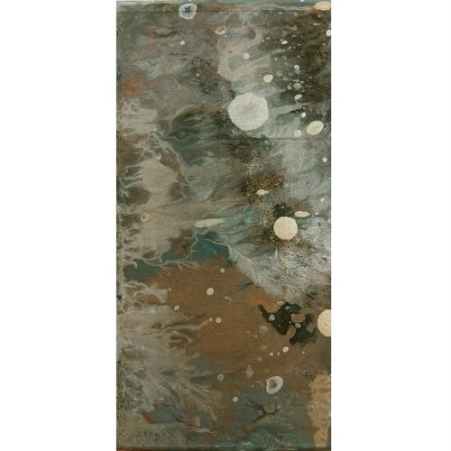 「月夜」 廃材の木片にアクリル * アート作品 抽象画 絵画 内野隆文 takafumiuchino