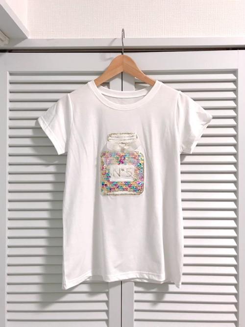 再入荷★香水瓶のキラキラスパンコールTシャツ