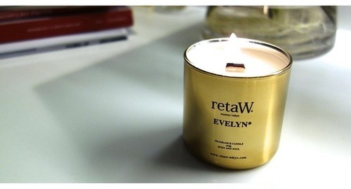 retaW Fragrance Candle EVELYN* GOLD