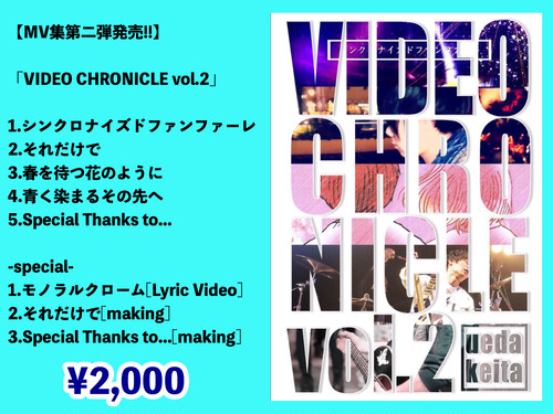 VIDEO CHRONICLE vol.2 (DVD) MV集第二弾!!