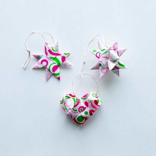 ornament 3pcs set(WH)(outlet)