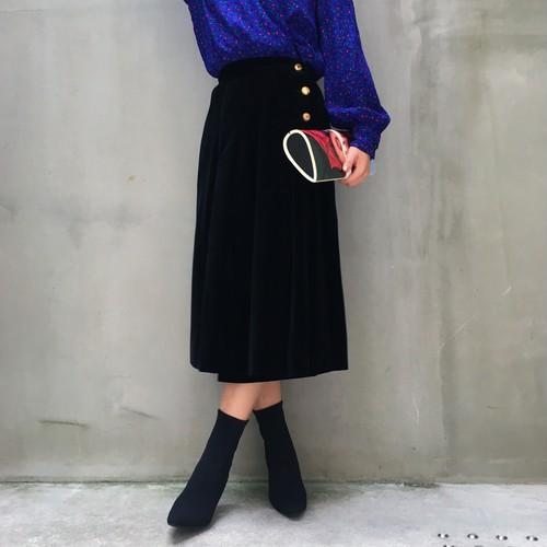 CHANEL Velvet wrap skirt