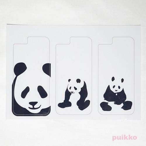 スマホ用スキンシール(3枚セット) パンダ