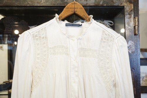 Ralph Lauren cotton jersey victorian Blouse