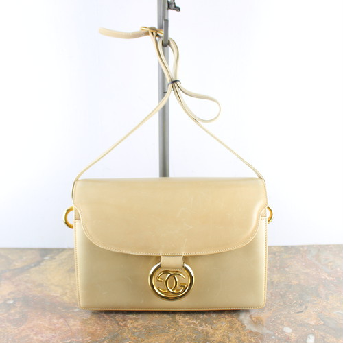 .VINTAGE GUCCI LOGO LEATHER SHOULDER BAG MADE IN ITALY/ヴィンテージグッチロゴレザーショルダーバッグ 2000000053349