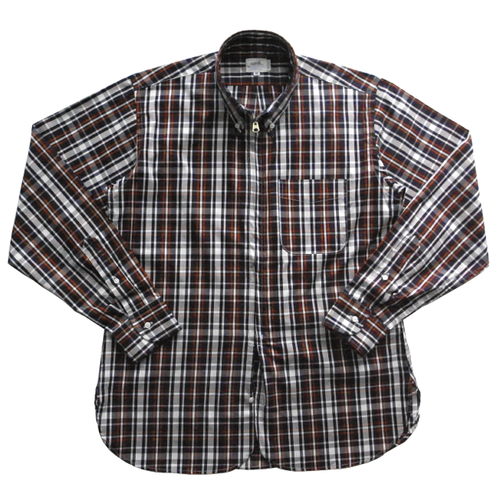 AL ZIP B.D SHIRT - COTTON PLAID