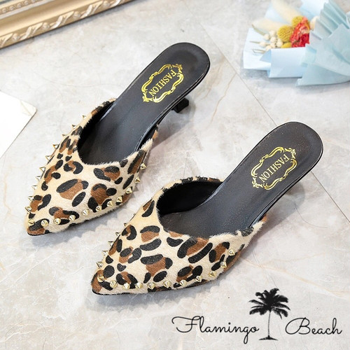 【FlamingoBeach】leopard shoes