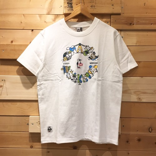 "CHUMS チャムス ""Crazy Weekend T-shirt"" クレイジーウィークエンド Tシャツ 半袖Tシャツ 2019 SS CH01-1481"