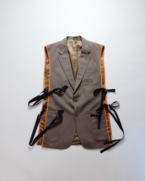 make over tailored vest2 (iridescent brown)
