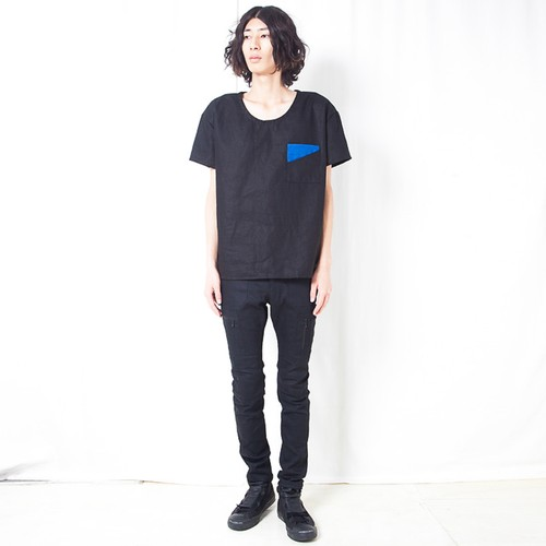 COTTON LINEN T / BLACK