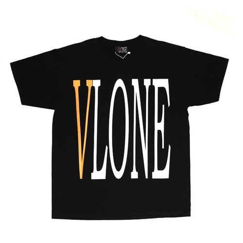 VLONE Logo T-Shirts BLACK × ORANGE