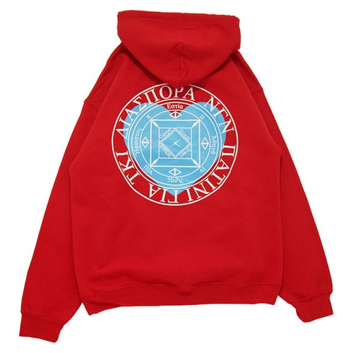 Heart Magic Circle Hooded Sweat (Red)
