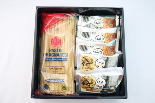 【お家でダッチ】パスタソース2種類とイタリアの乾麺セット 5食入り