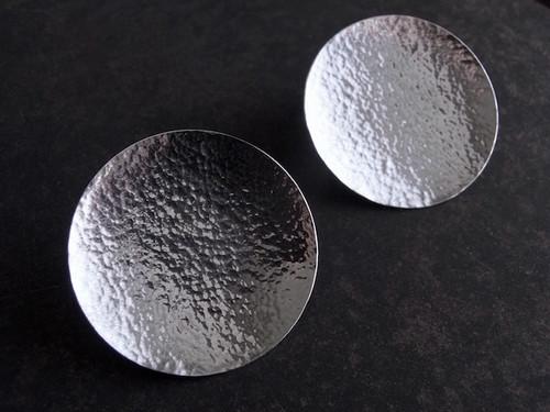Pure Silver Full Moon / 純銀の満月ピアス(Lサイズ・ペア)