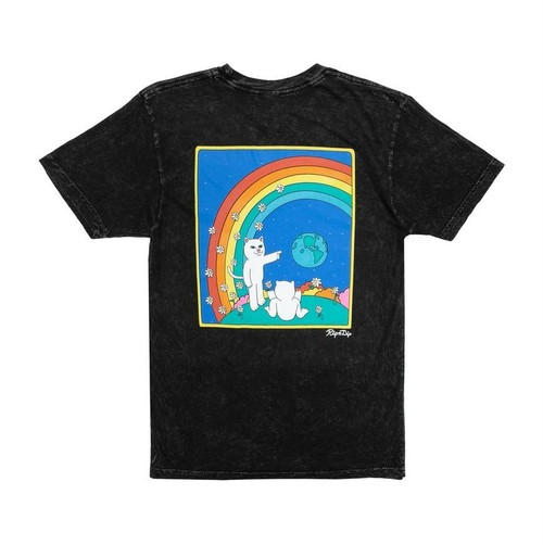 RIPNDIP - Earthgazing Tee (Black Mineral Wash)
