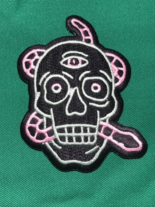 """Toughtimes""""NEON SKULL PATCH"""""""