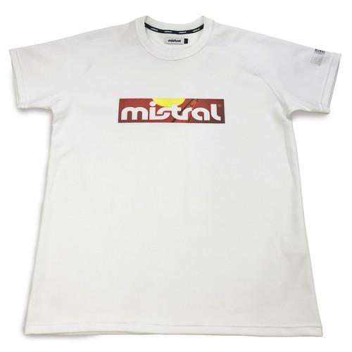 ミストラル ユニセックス【HP-DRY(ハイドロフォビックドライ)半袖Tシャツ - ミストラルサンセット -】WHITE