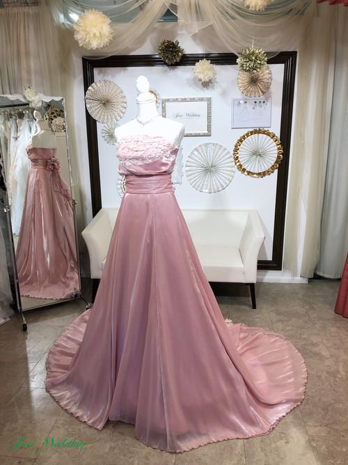 セパレートドレス フラワーモチーフレース 大人可愛い ピンク お色直し 演奏会 発表会 2次会