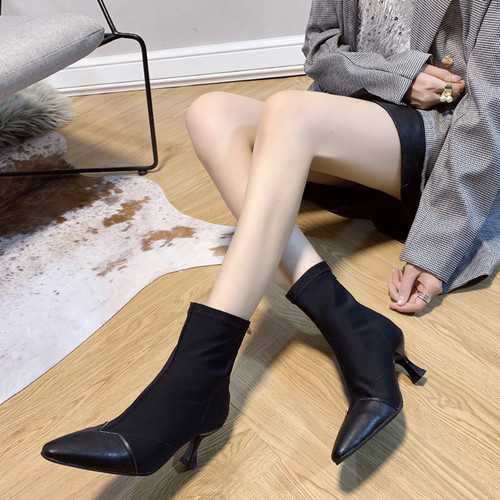 アンクルブーツ 2色 22.5~26.0cm 大きいサイズ 靴 シューズ ブーツ レディースブーツ ショートブーツ アンクルブーツ スエード バックジップ ポインテッドトゥ おしゃれ 大人 きれいめ デイリー お出かけ 秋新作 HI-1910-0002366