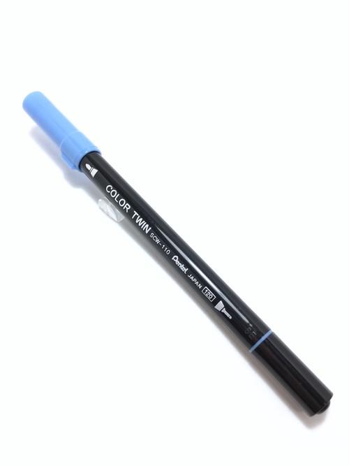 110 Pentel COLOR TWIN SkyBlue