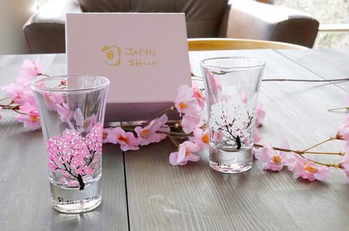 温度で楽しむ・丸モ高木陶器・桜が満開冷感桜 グラス天開ペアセット 旬 SHUN JAPAN バレンタイン 母の日 父の日 結婚祝い プレゼント ビール日本酒ウイスキー敬老の日退職祝い