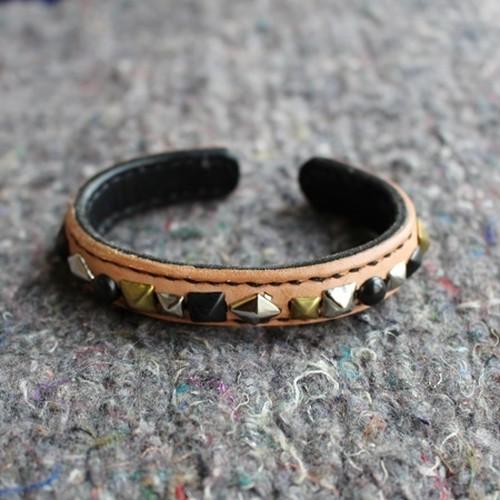 Random Studs Leather Bracelet (rsb-01)