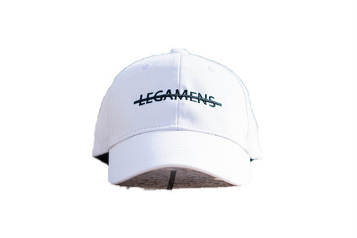 【simple logo cap】/ white