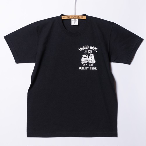 "別注 SIRANO BROS(SME) 7.1oz T-shirts ""Mr.T & Mr.Y"" Black"
