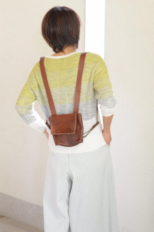 ランドセル型 革バッグ