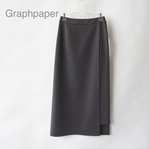 Graphpaper/グラフペーパー・Compact ponte wrap skirt