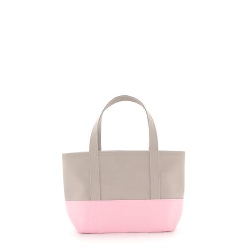 daisyhillトートバッグ【M】ペールグレー×ペールグレー×パールピンク