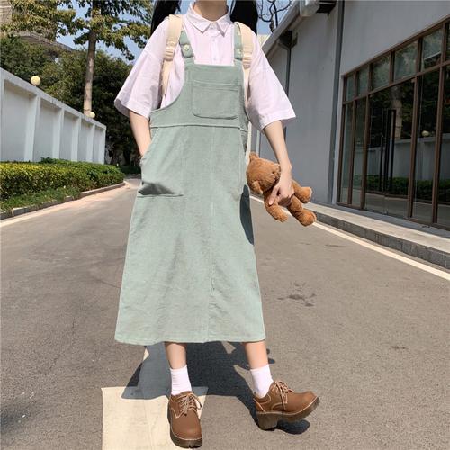 〈カフェシリーズ〉いちごとメロンのジャンパースカート