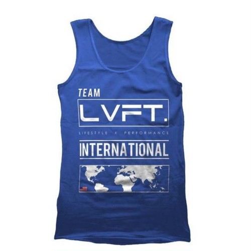 LIVE FIT International Tank - Blue