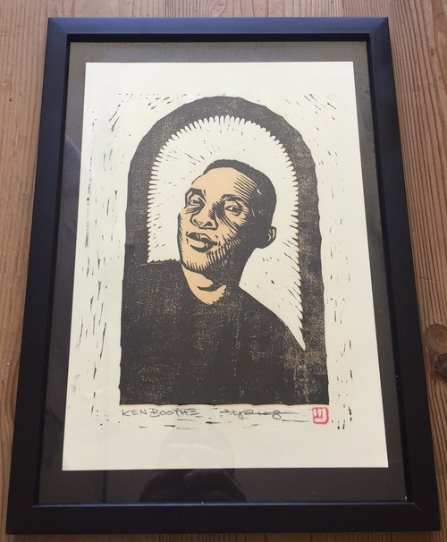' Ken Boothe ' woodcut print  by 2yang  Ltd.6 ( 送料250円 )