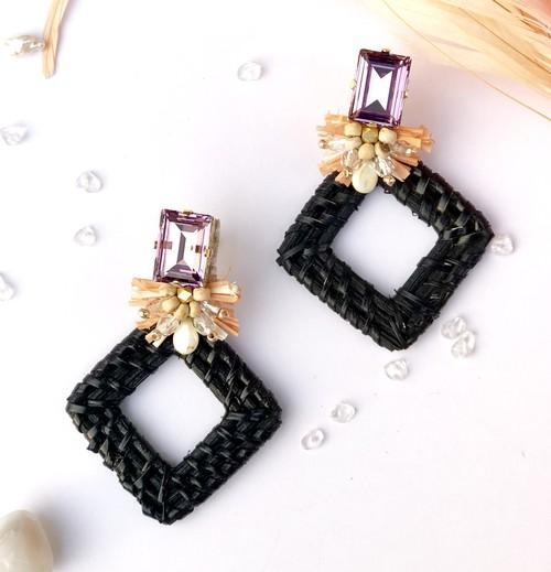 Jewel bascket //black,lavender