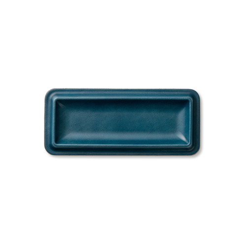 colm Leather Tray M Blue