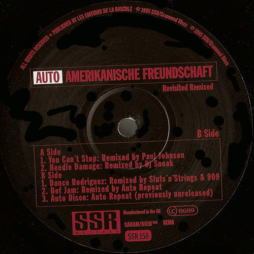 AUTO REPEAT / Auto-Amerikanische Freundschaft (Revisited Remixed) (12 inch)