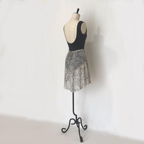 "◇""Tatiana"" Ballet Wrap Skirt - Oriental Leaves [Sheer]( オリエンタル リーブス [シアー])"