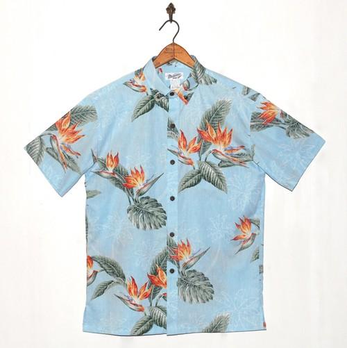 Mountain Men's ボタンダウン アロハシャツ / Bird of paradise