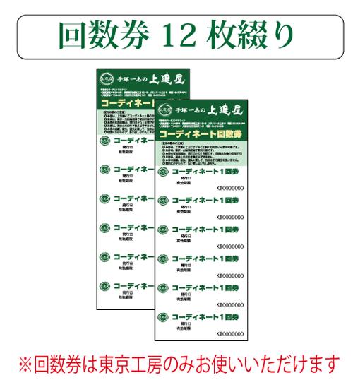 コーディネート(レッスン)回数券12枚