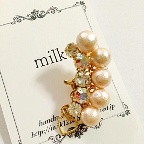 cotton pearl★イヤーカフ