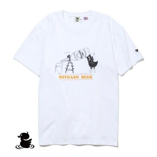 grn outdoor SOTOASOBI S/S TEE(BEER:柄C) go105M Tシャツ ダックロー アウトドア クルーネック 天竺 綿
