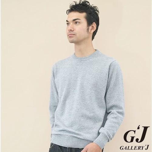G-1001 Men's 丸首長袖プルオーバー / カシミヤ100%
