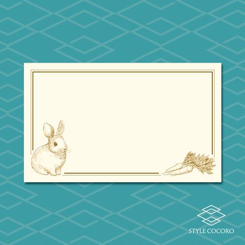 メッセージカード/ウサギ
