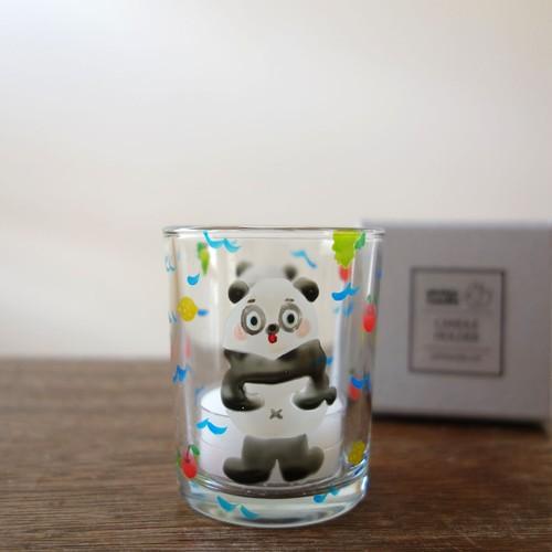 絵付けキャンドルホルダー/パンダ(箱入り)